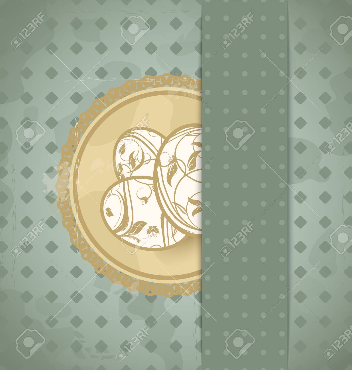 Illustration Easter grunge card with eggs - vector Stock Illustration - 12710104