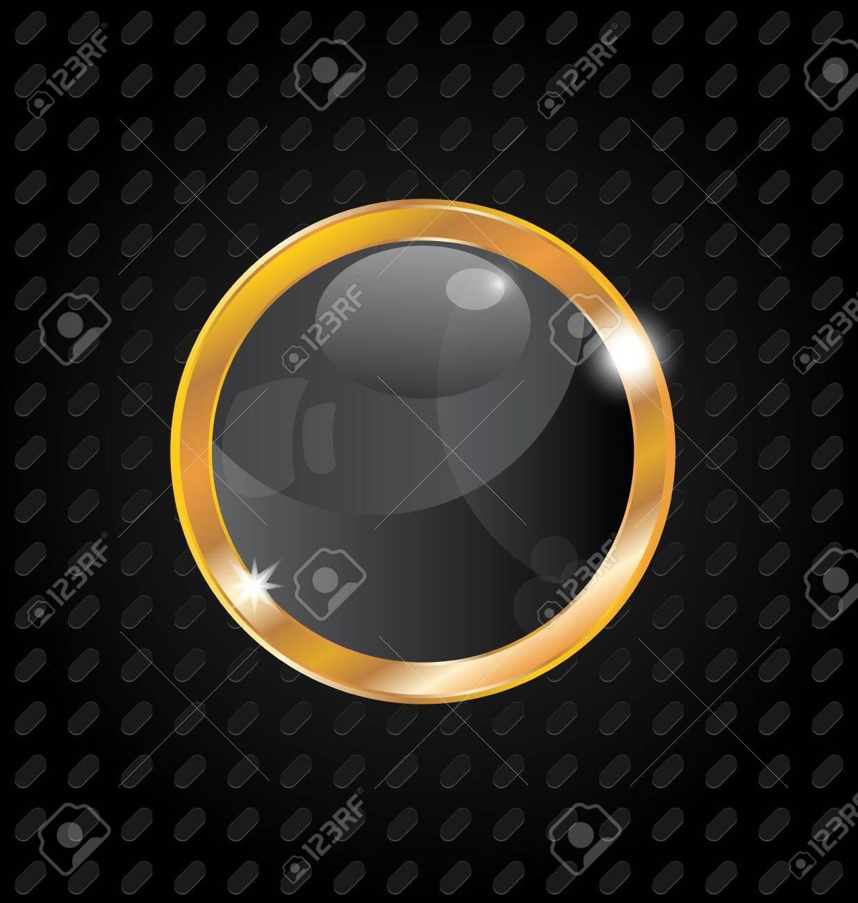 Illustration golden luxury ball isolated on aluminum background Stock Vector - 13865276