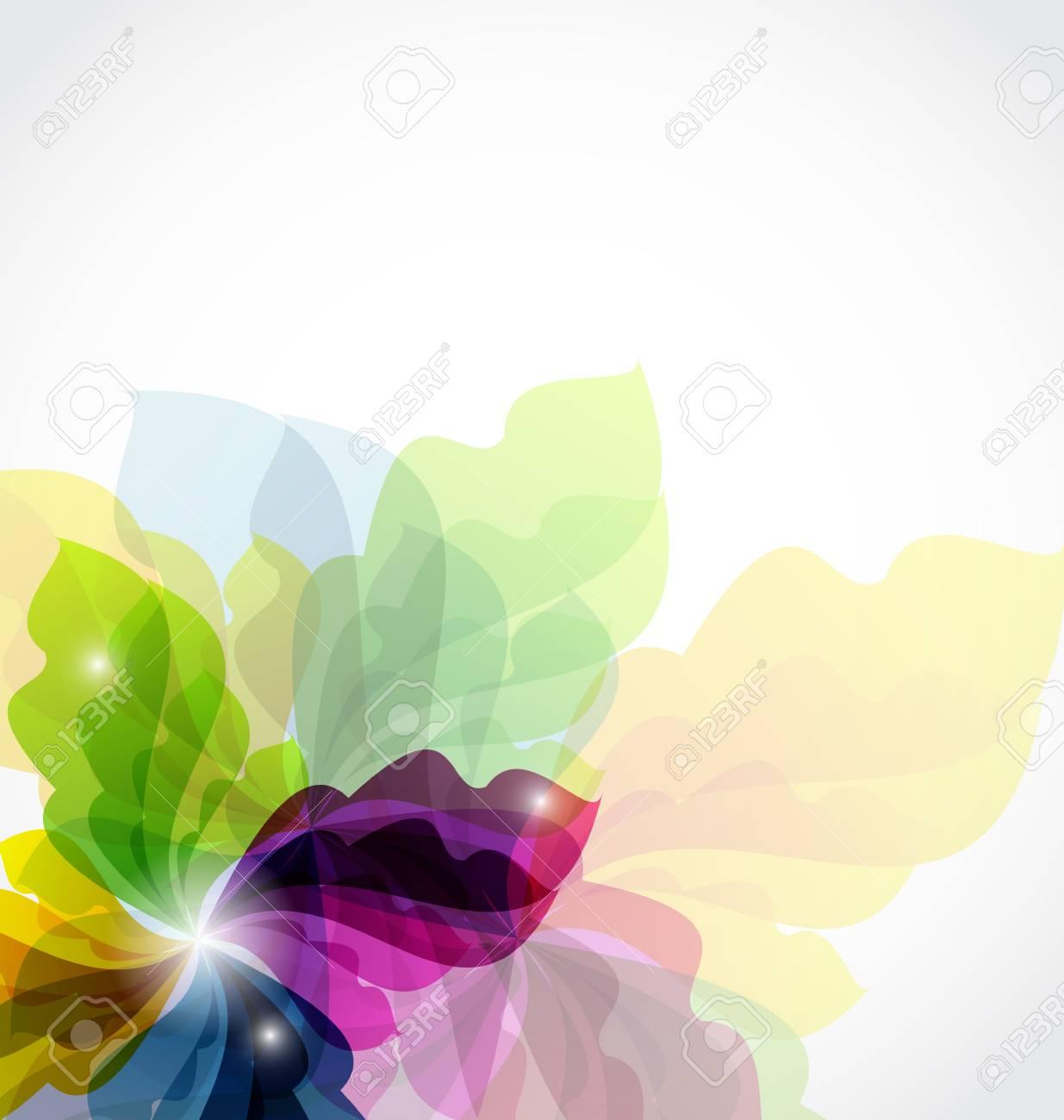 Illustration modern transparent floral background Stock Photo - 14492785