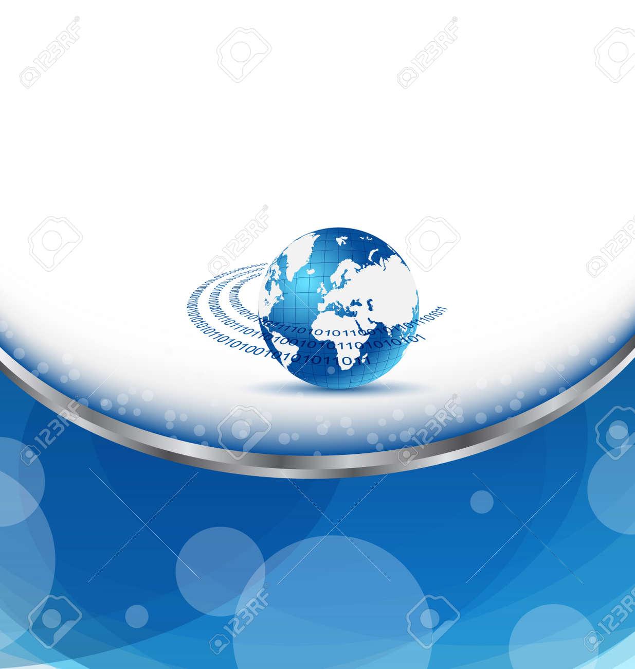 Illustration De Carte Visite Avec La Planete Terre