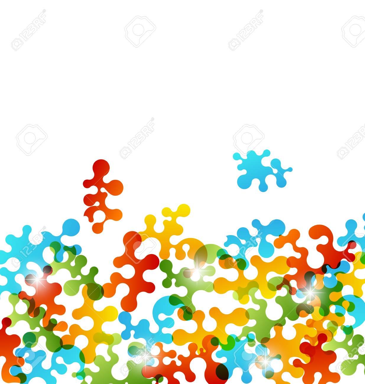 Illustration set colorful figures stylized puzzle Stock Illustration - 16945680