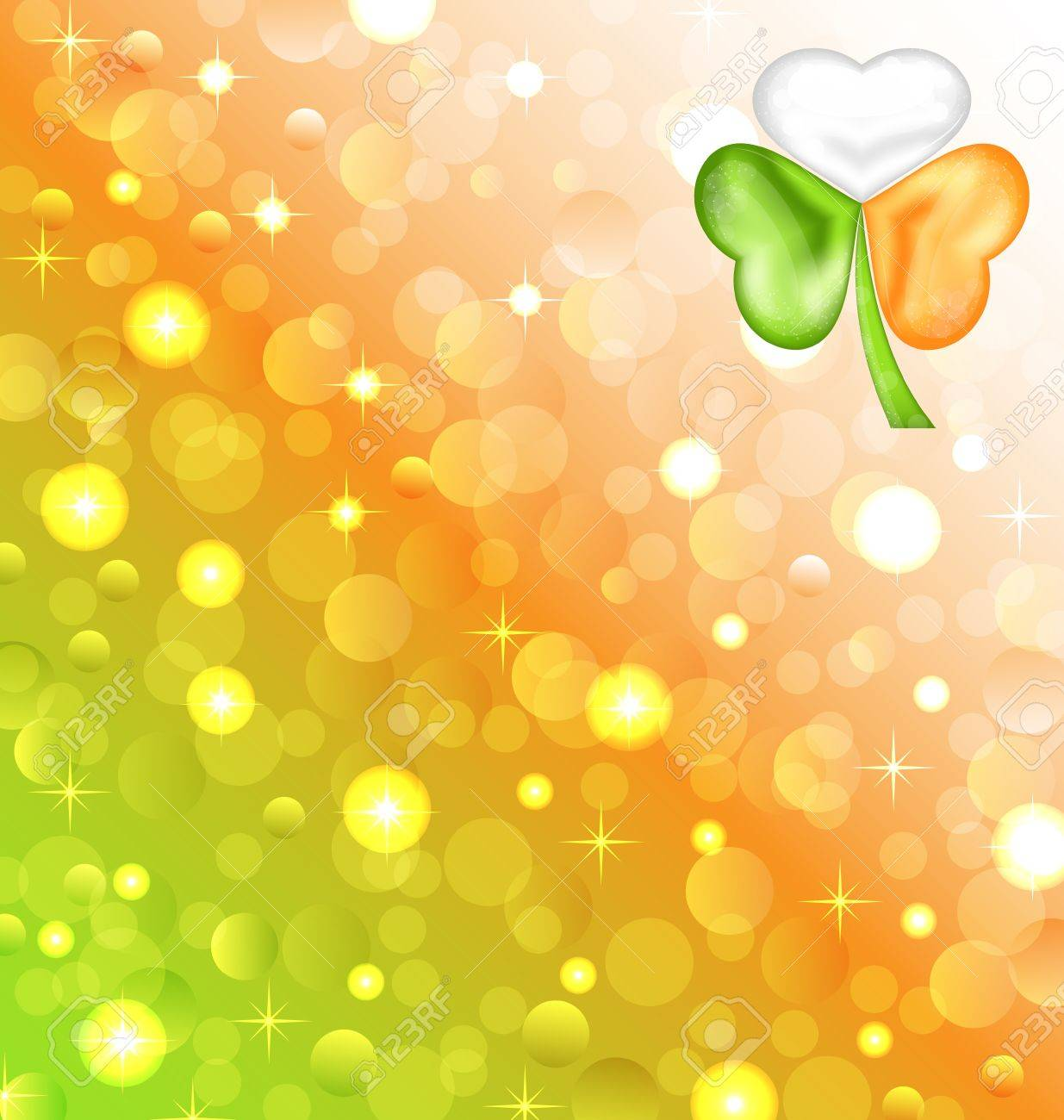 Illustration shamrock in Irish flag color for Saint Patrick day - vector Stock Vector - 17968309