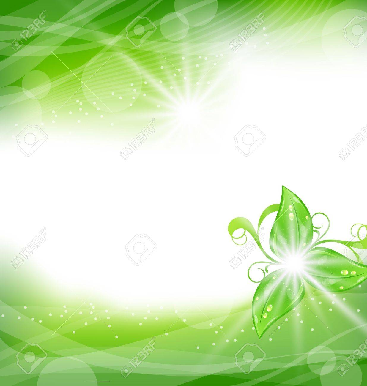 Illustration eco friendly background with green leaves - vector Stock Vector - 17968356