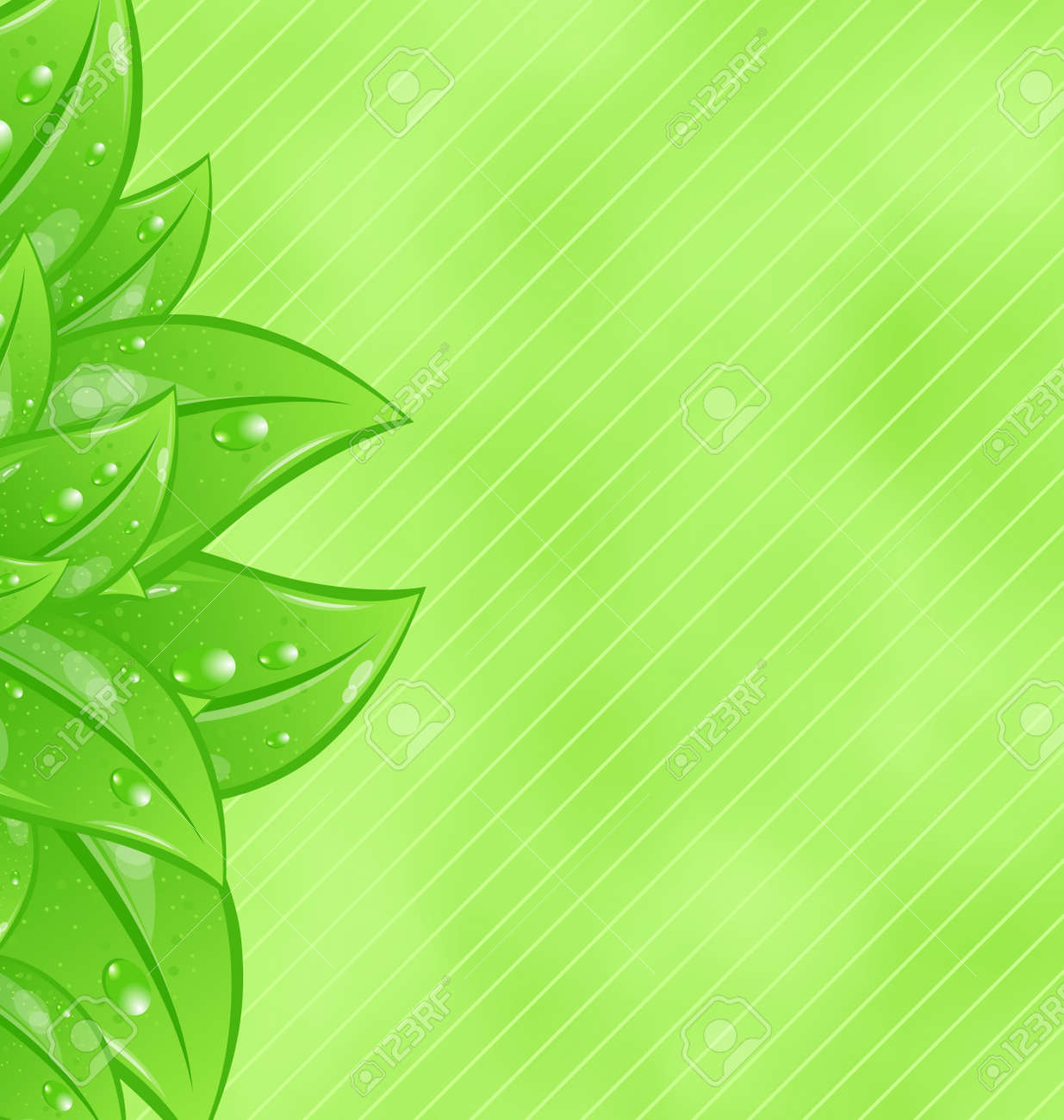 Illustration ecology background with eco green leaves Stock Illustration - 18434048