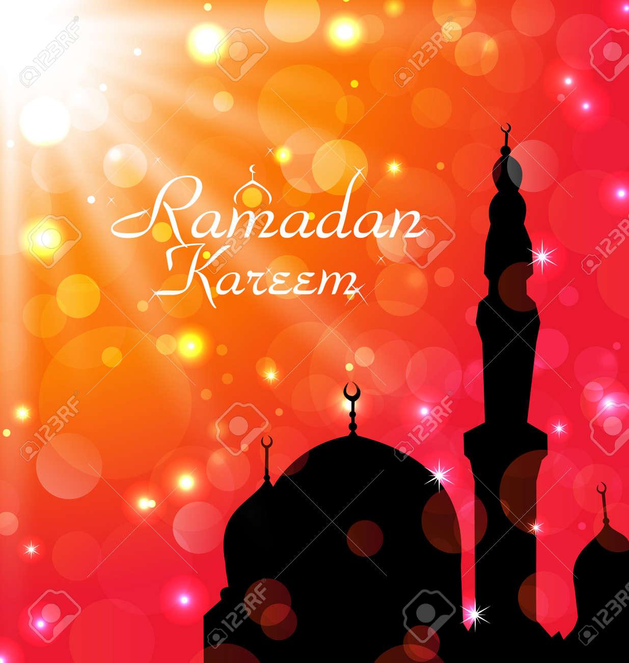 Illustration celebration card for Ramadan Kareem - vector Stock Illustration - 20137649