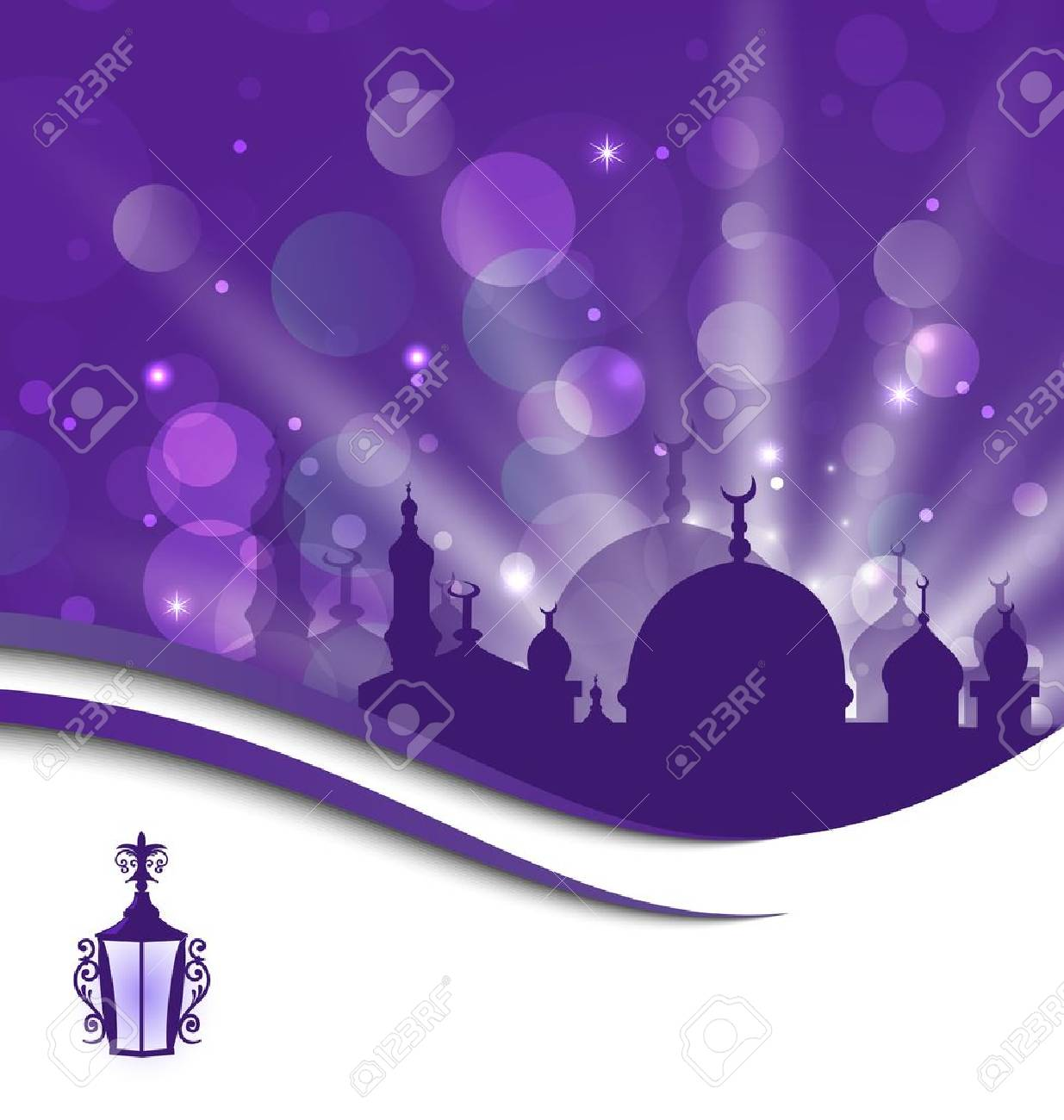 Illustration greeting card template for Ramadan Kareem - 20620217