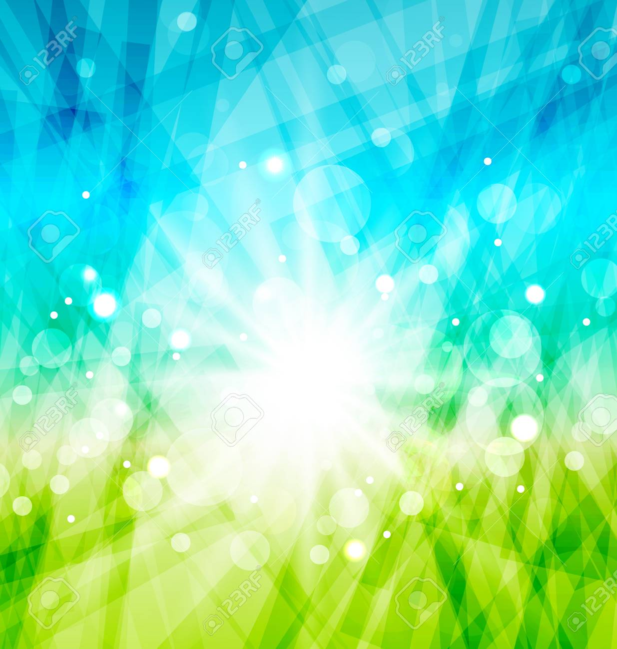 Illustration modern abstract background with sun rays - vector Stock Vector - 25529434