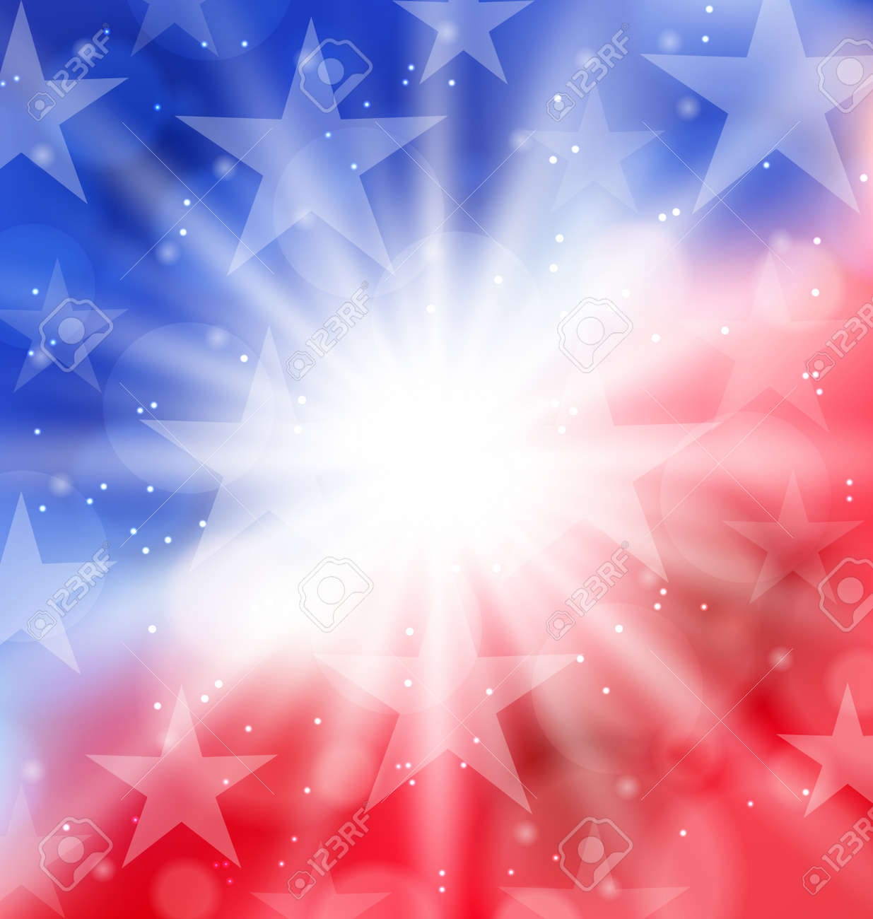 Illustration happy 4th of July card with place for text - vector - 35056048