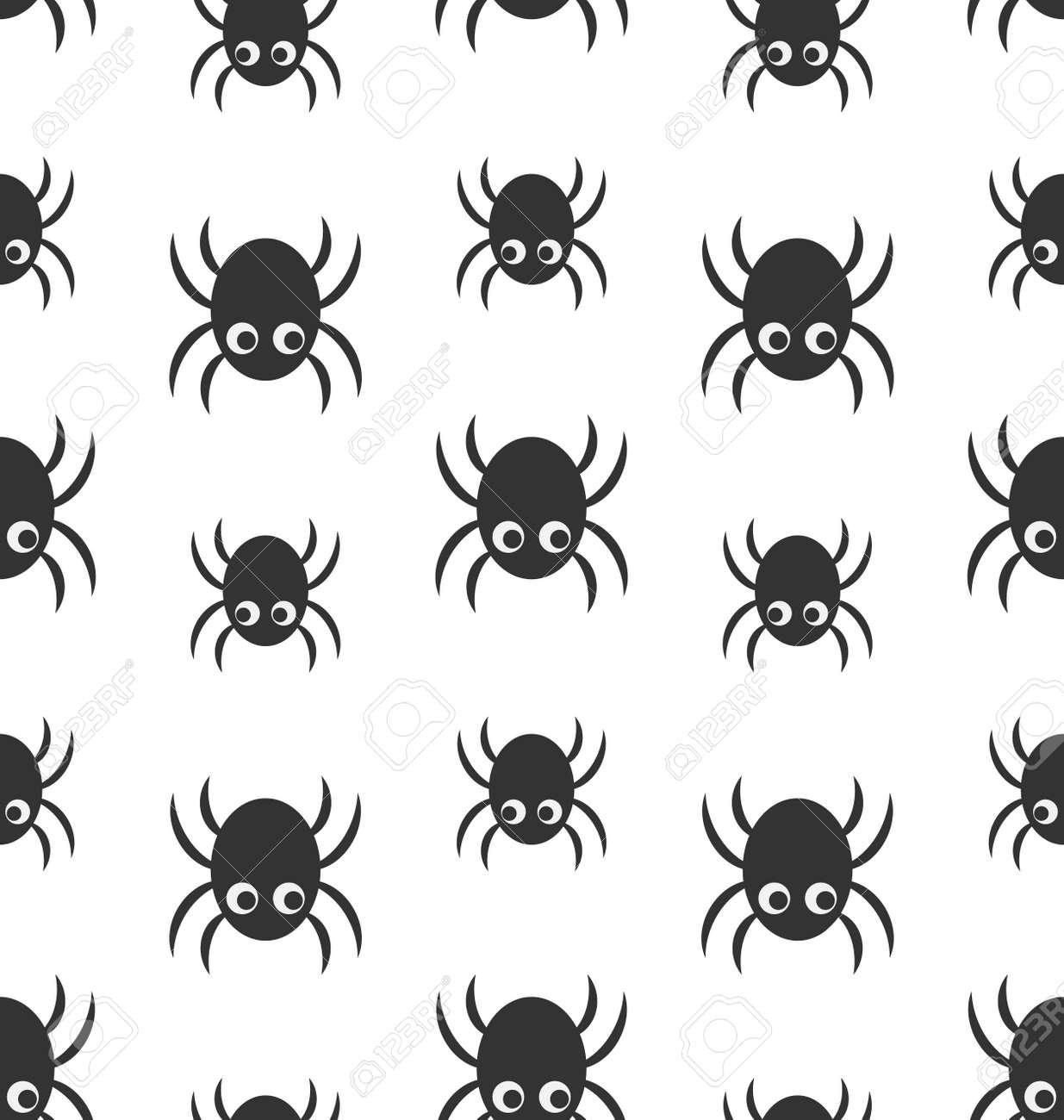 Ilustración Patrón Sin Fisuras Con Las Arañas Simples, Fondos De ...