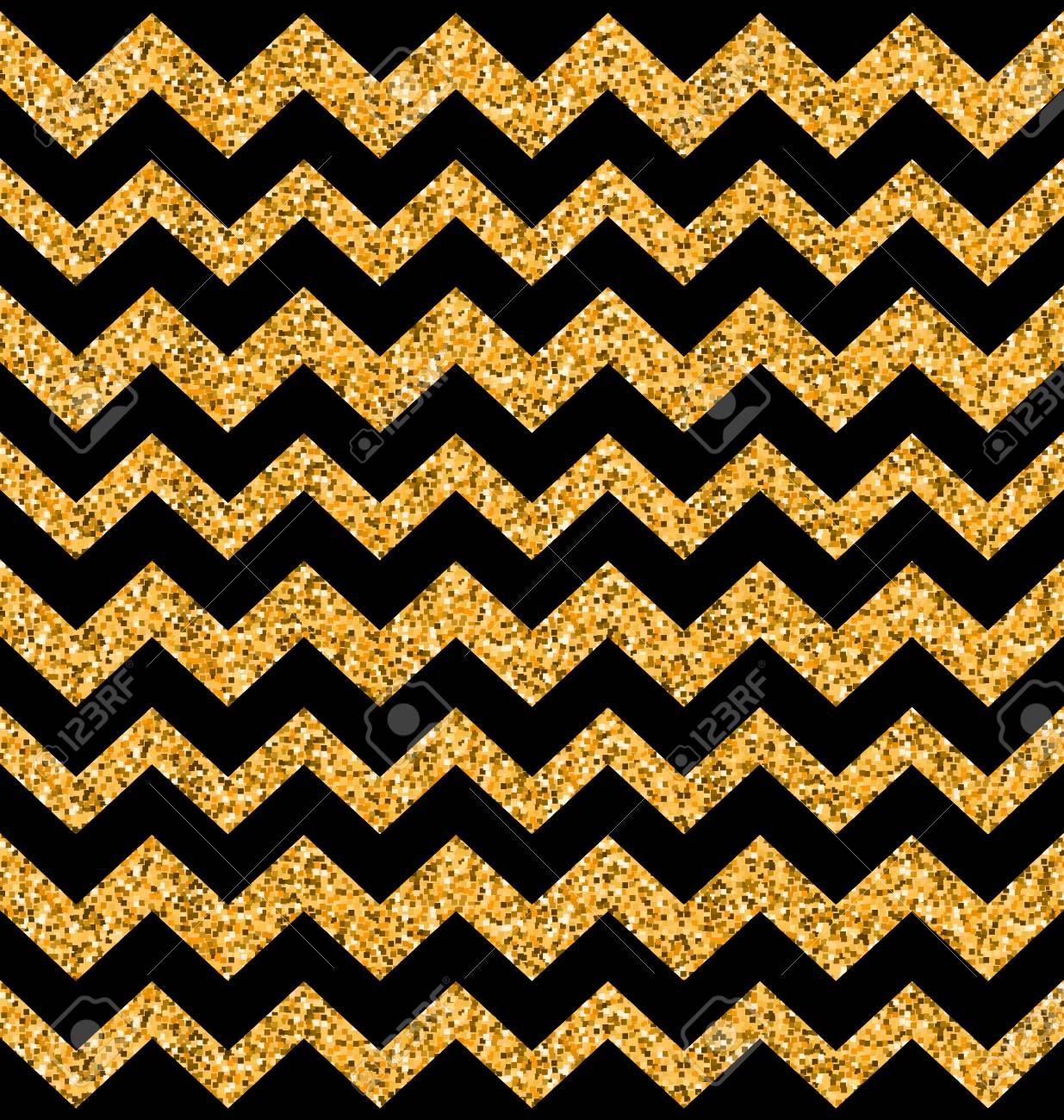 Texture De Zigzag Sans Soudure De Paillettes Illustration Sur Fond