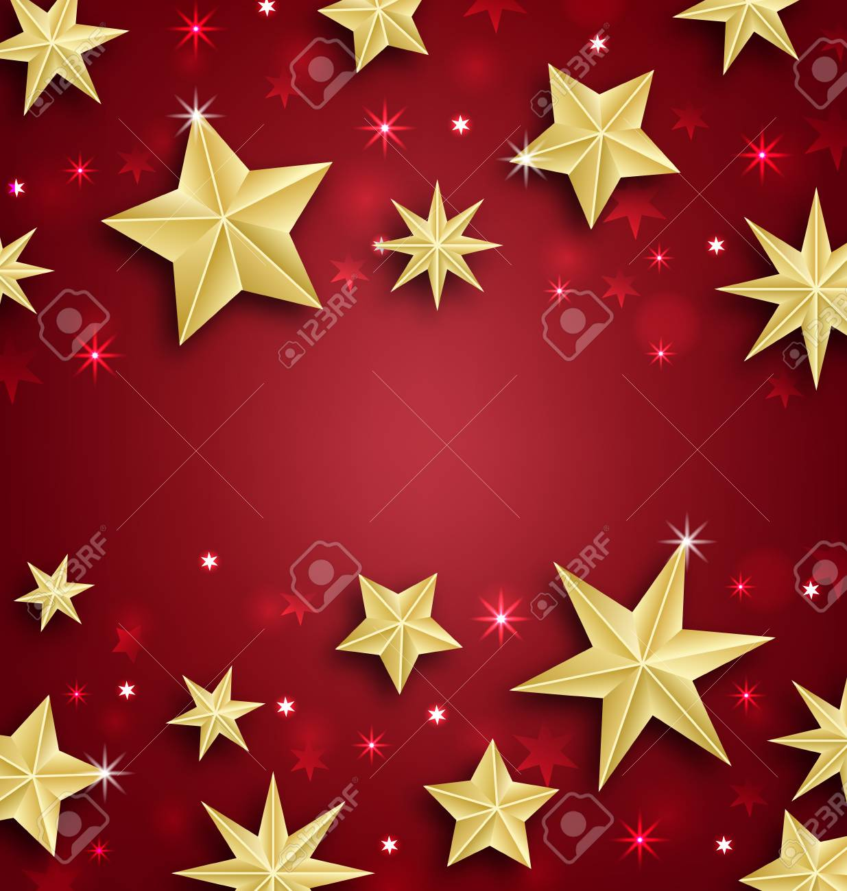 illustration illustration starry border for merry christmas and happy new year raster
