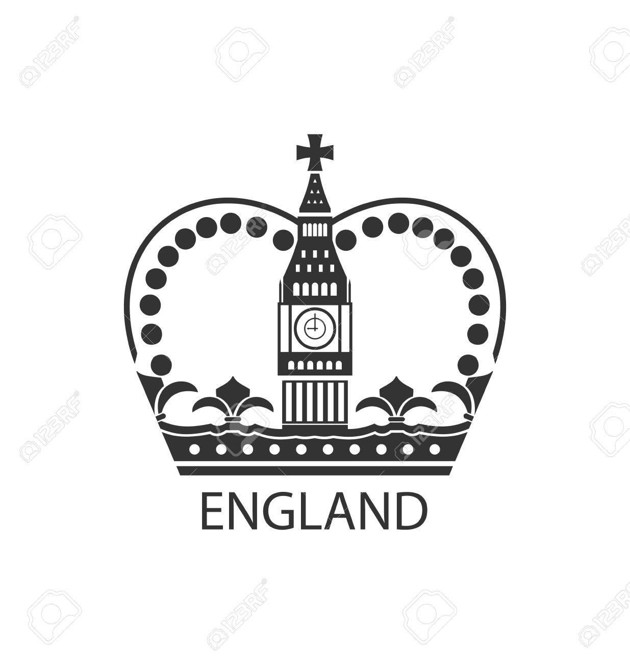 白地 ベクトル分離されたイギリスの王冠のイラストのコンセプトの