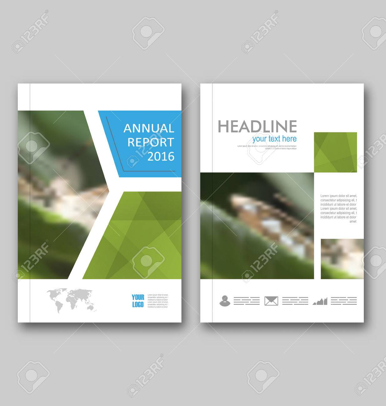 illustration brochure template layout cover design annual report