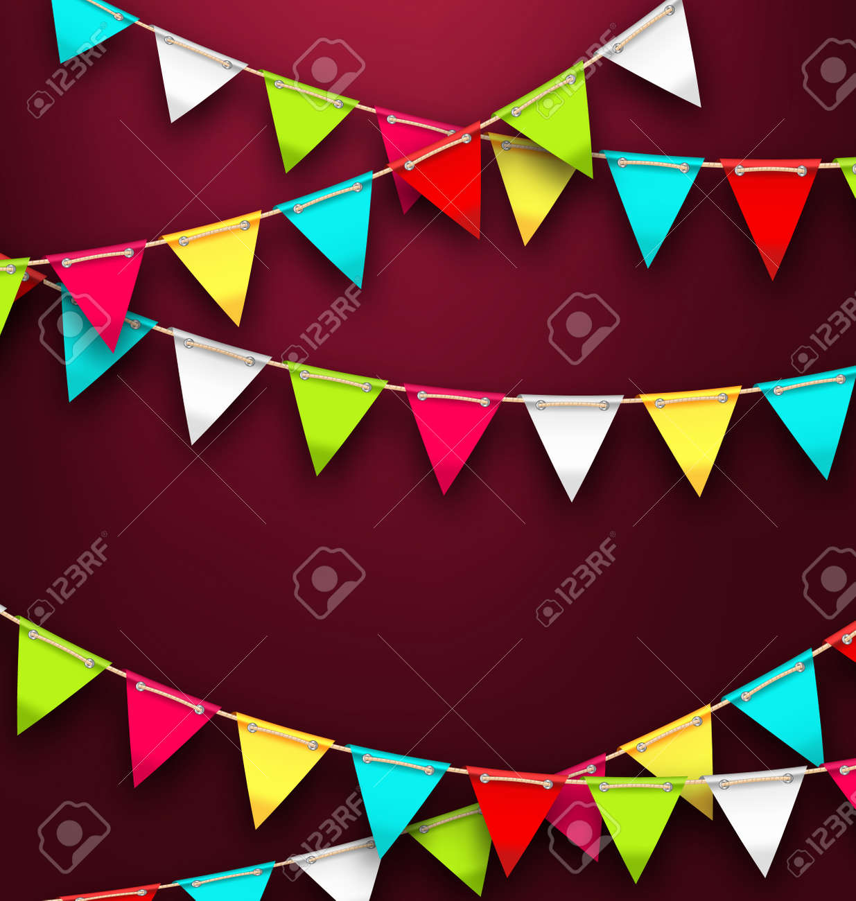 Illustration party background with colorful bunting flags for illustration party background with colorful bunting flags for holidays bright template for poster postcard maxwellsz