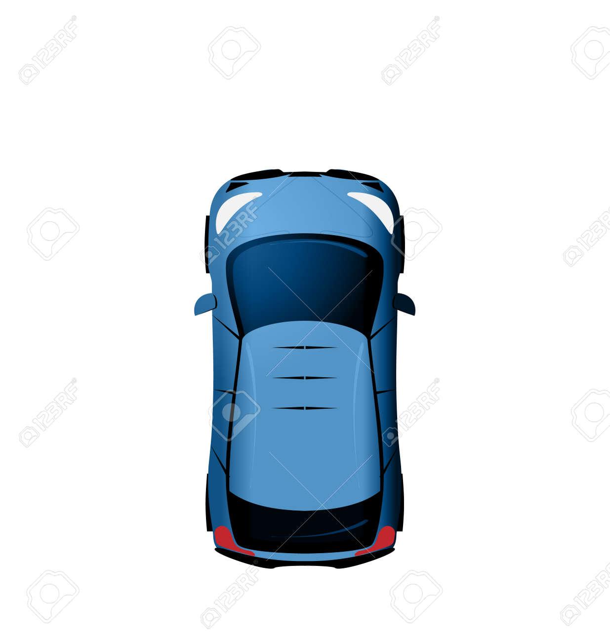 上から車両分離に白背景に ベクター イラスト車を見るのイラスト素材