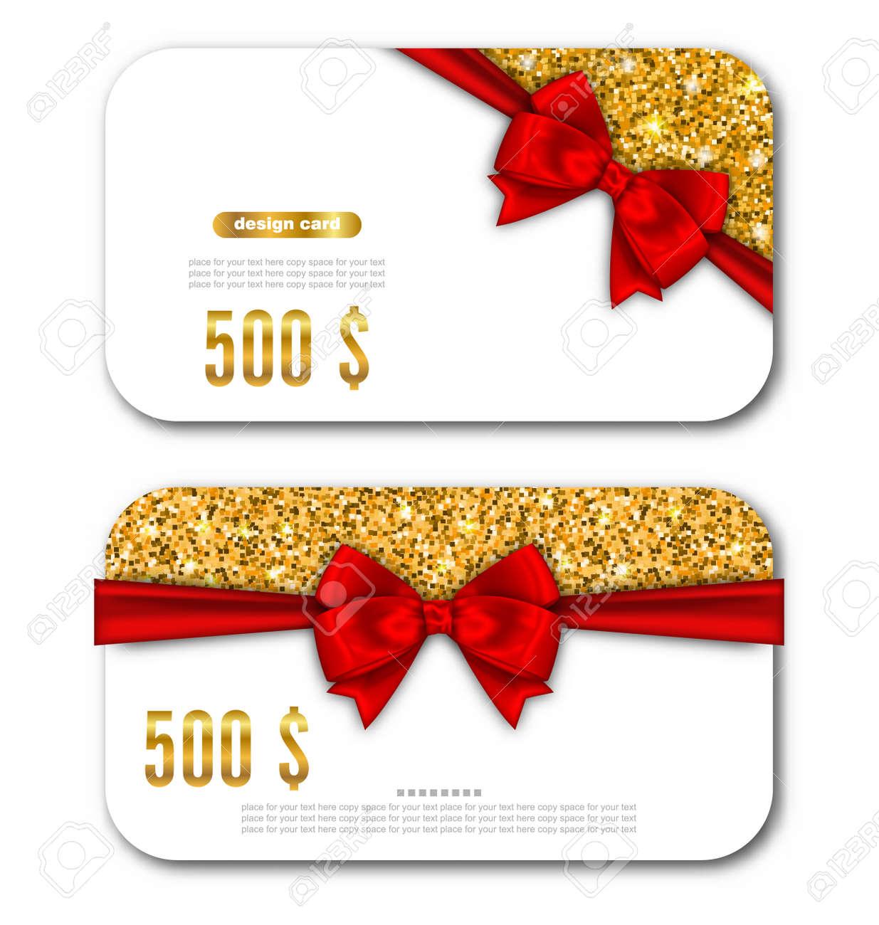 Illustration Geschenk-Karten-Schablone Mit Golden Dust Textur Und ...