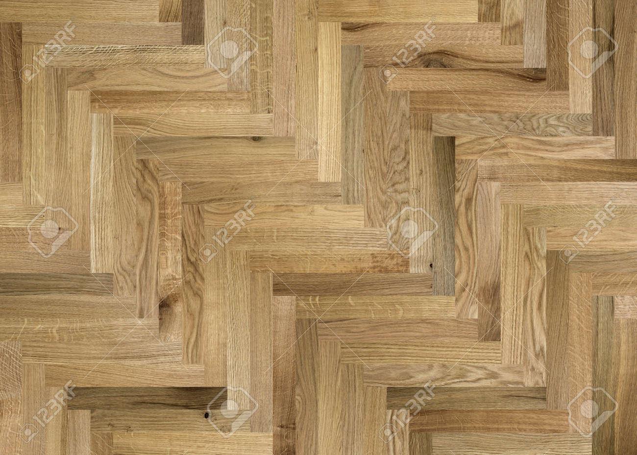 Fragment Of Parquet Floor Oak Beech Walnut Ash Stock Photo