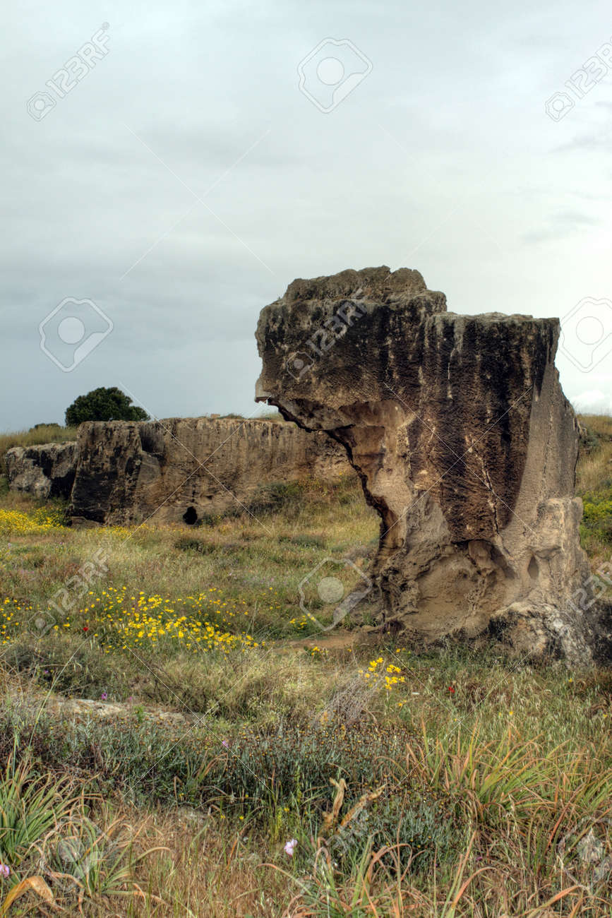 Ancient site the tombs of the kings in paphos, cyprus Stock Photo - 13943108