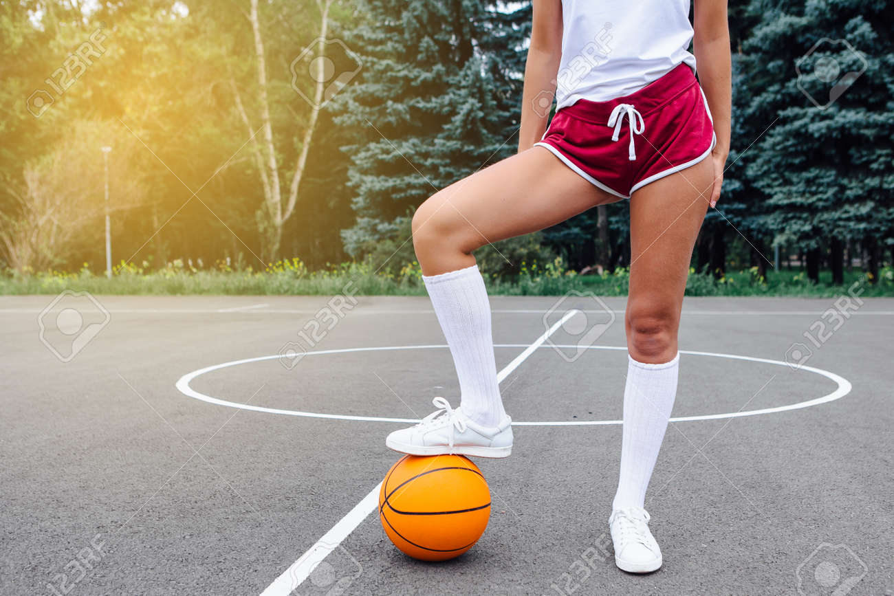 White Sneakers And Whote Long Socks
