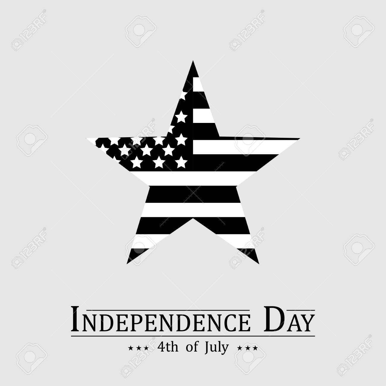 san francisco bc256 92cd8 4th of July, Happy American Independence Day banner with black and white  star Vector illustration