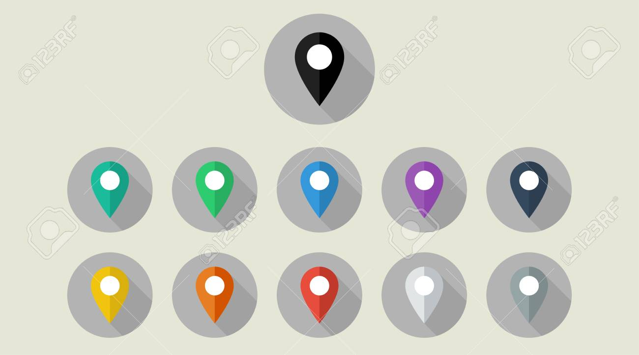 icons location map