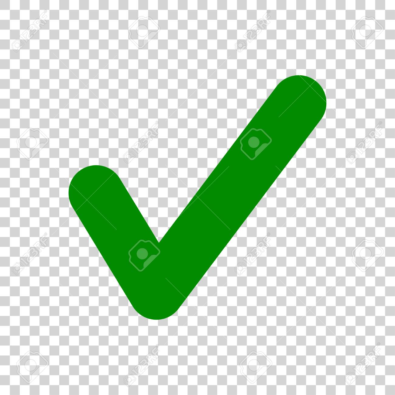 Green Check Mark icon isolated on transparent background - 110082102