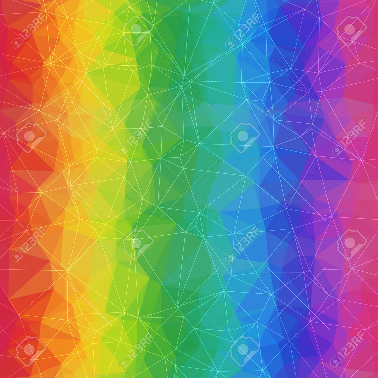 geometric rainbow background of asymmetric triangles grid abstract
