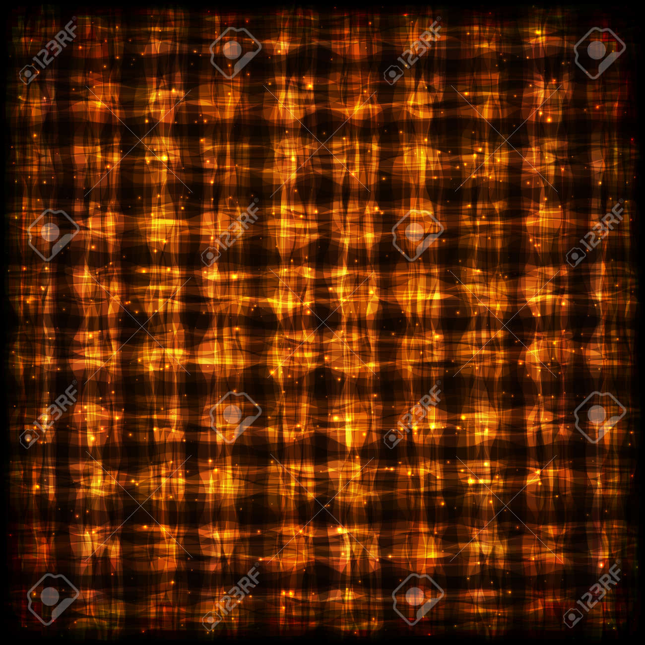 Flamy Checkered Pattern With Light Effect. Glowing Hot Abstract Background  For Site, Web,
