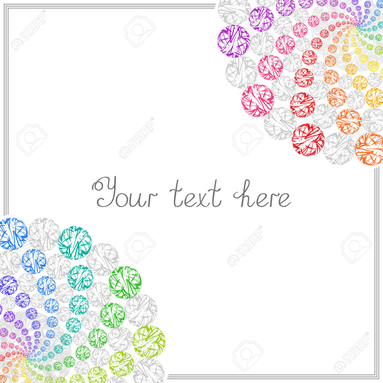 Colorful Templates For Text, Placard, Cover. Abstract Frame With ...