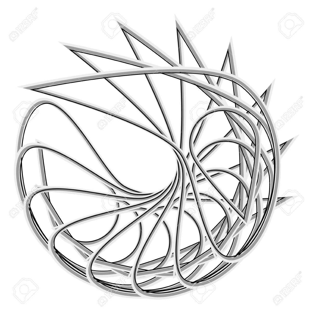 Symbols And Symmetrical Geometric Pattern Fractal Pentagram