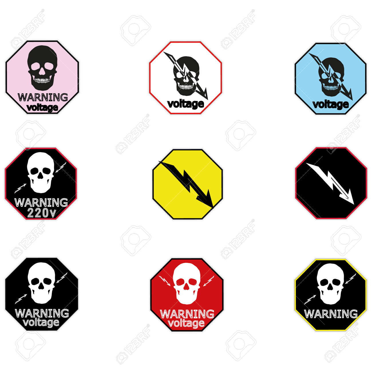 Stickers For Electrical Distribution Board Consumer Electrical