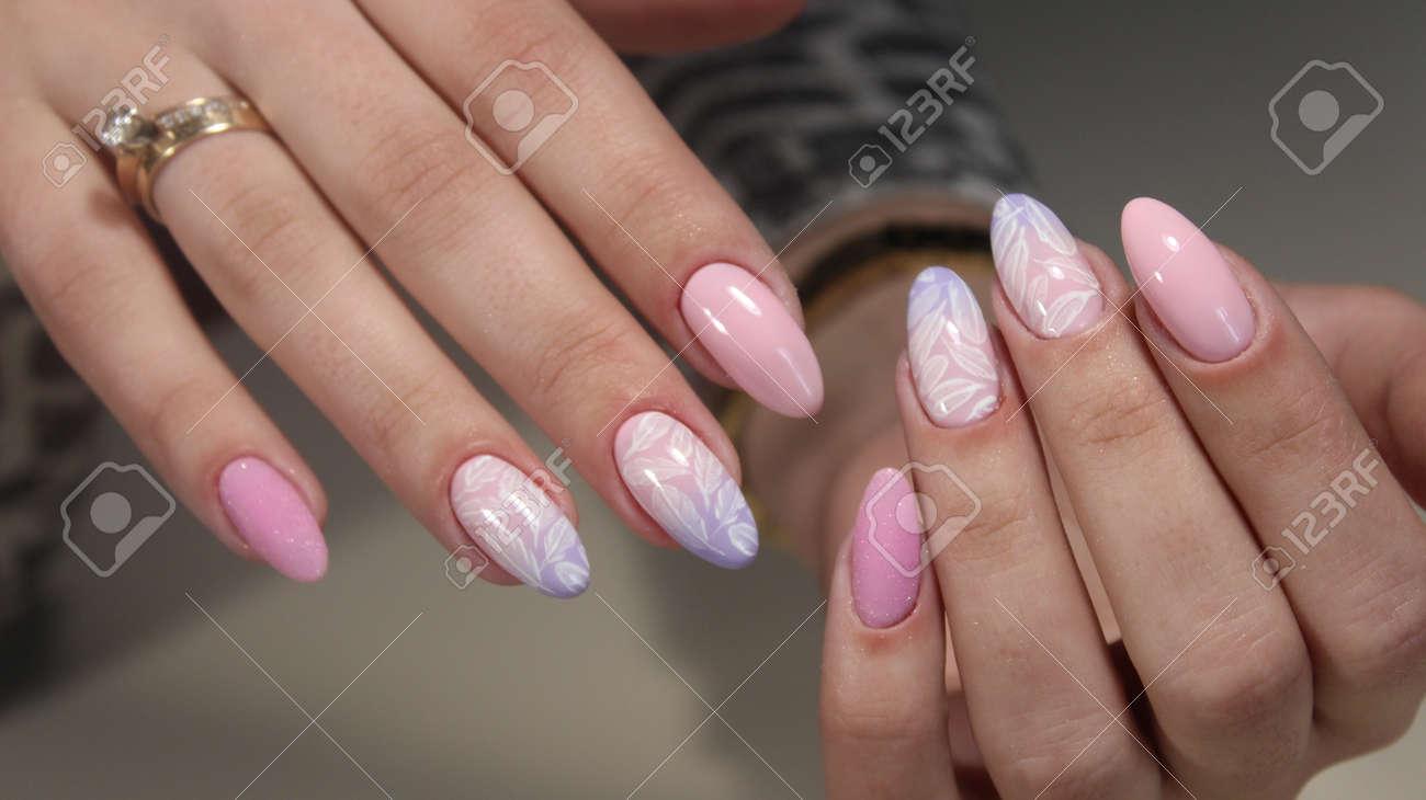 Verschiedene Nägel Muster Galerie Von Maniküre Design Mit Einem Auf Die Nägel