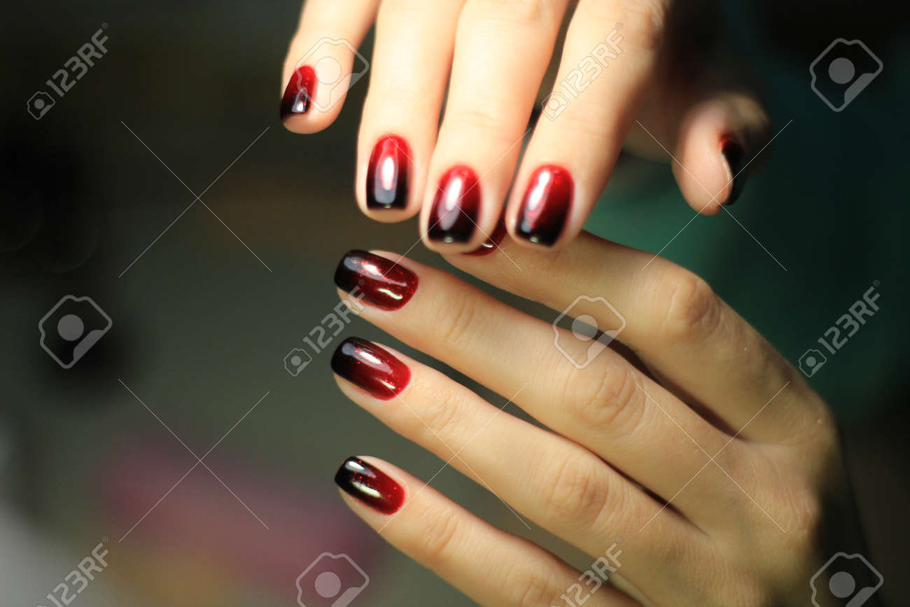 Manicure Nail Design The Best Work Of A Professional Master Stock