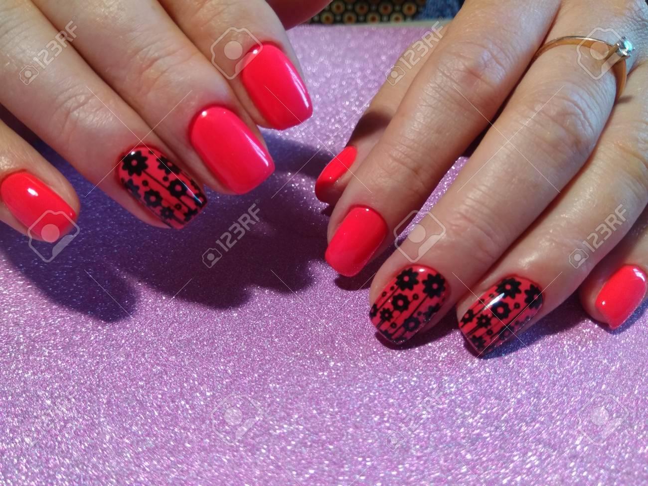 Nail Art Design Nagellak Beauty Handen Trendy Stijlvolle