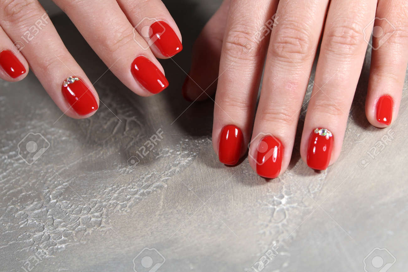 Stock Photo - Womens hands with a stylish manicure. 1931d447a