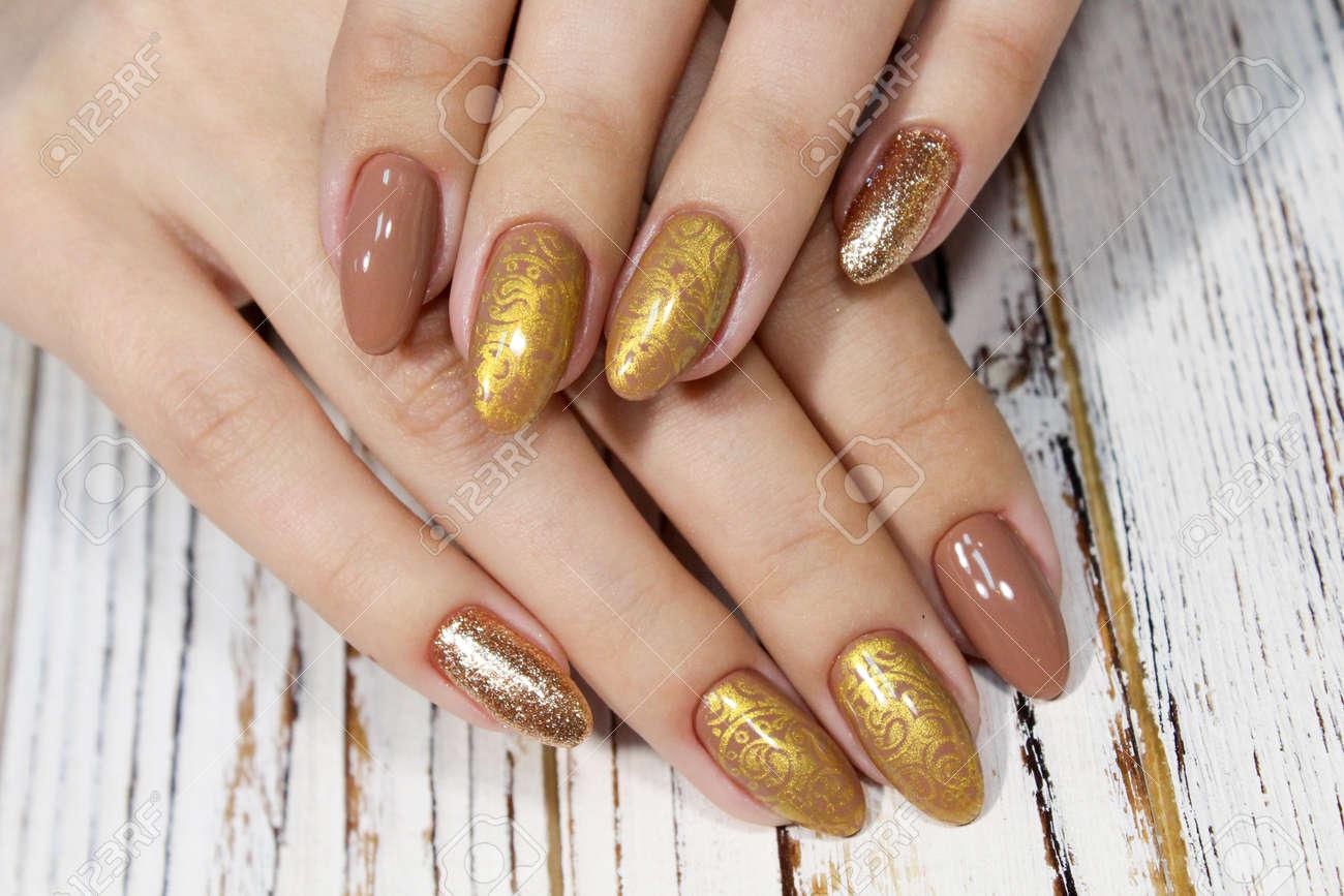 Youth Manicure Design Best Nails Gel Varnish Royalty Vrije Foto