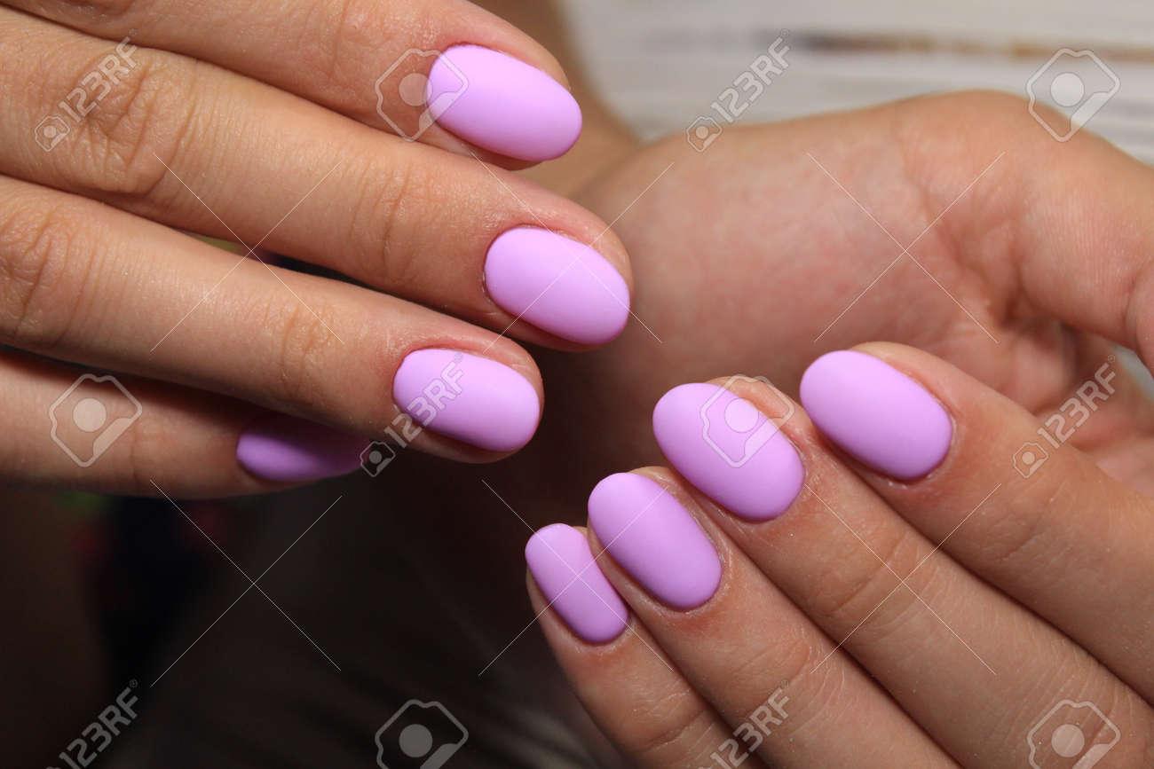 Archivio Fotografico , Stylish manicure nails color