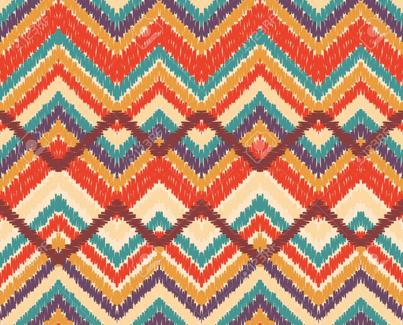Zigzag Sin Patrón Ilustraciones Vectoriales, Clip Art Vectorizado ...