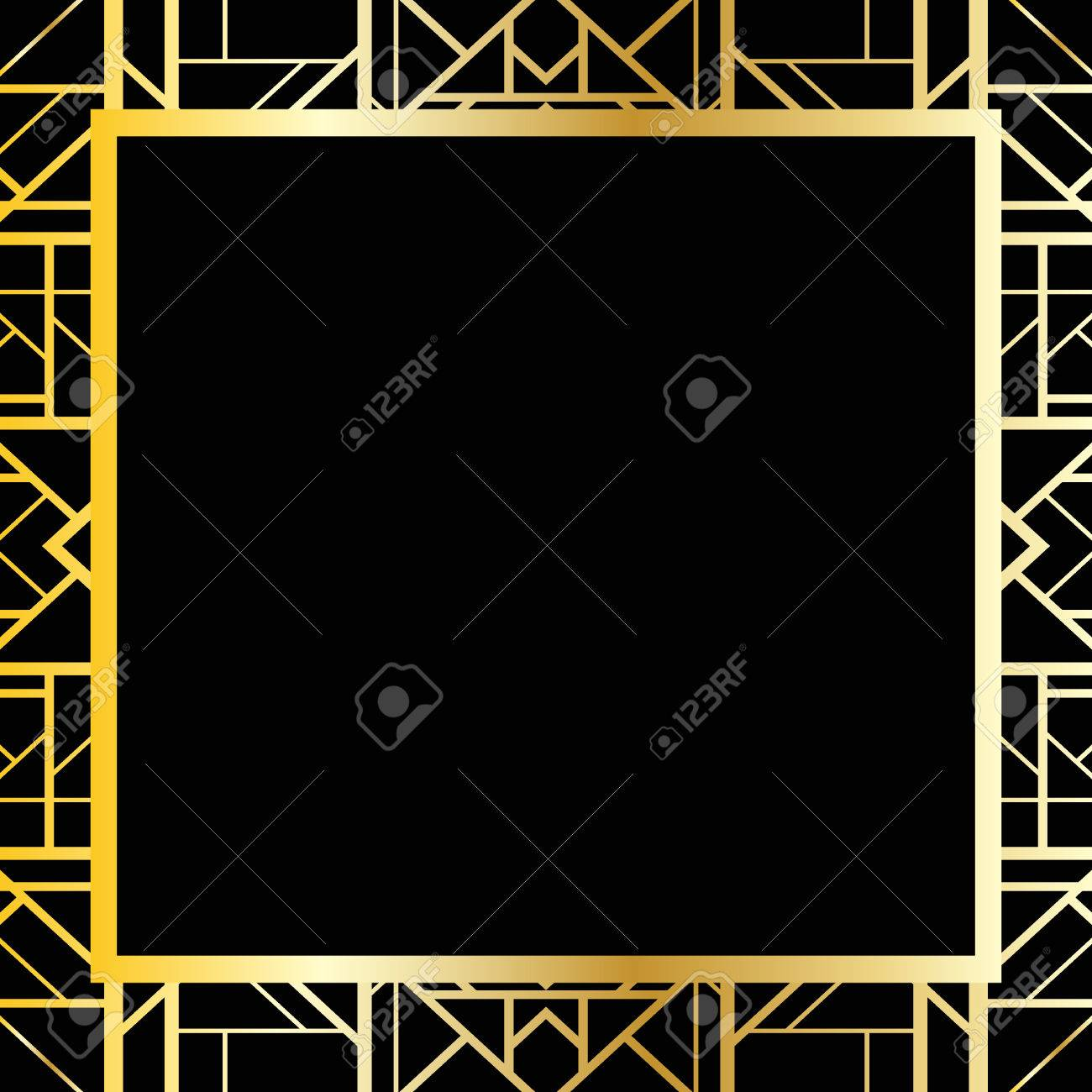 Art Deco Geometric Frame 1920s Style Royalty Free Cliparts