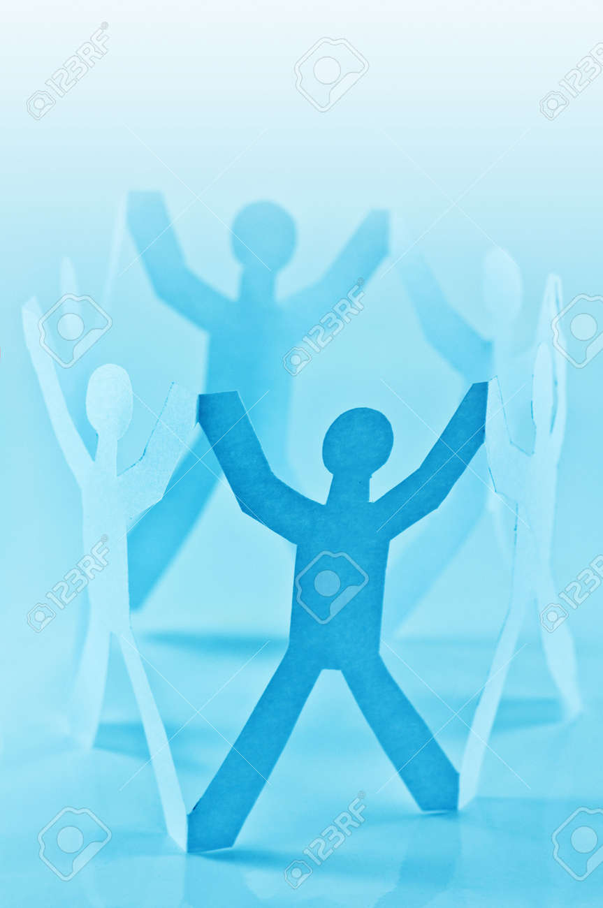paper people in circle closeup Stock Photo - 6695186