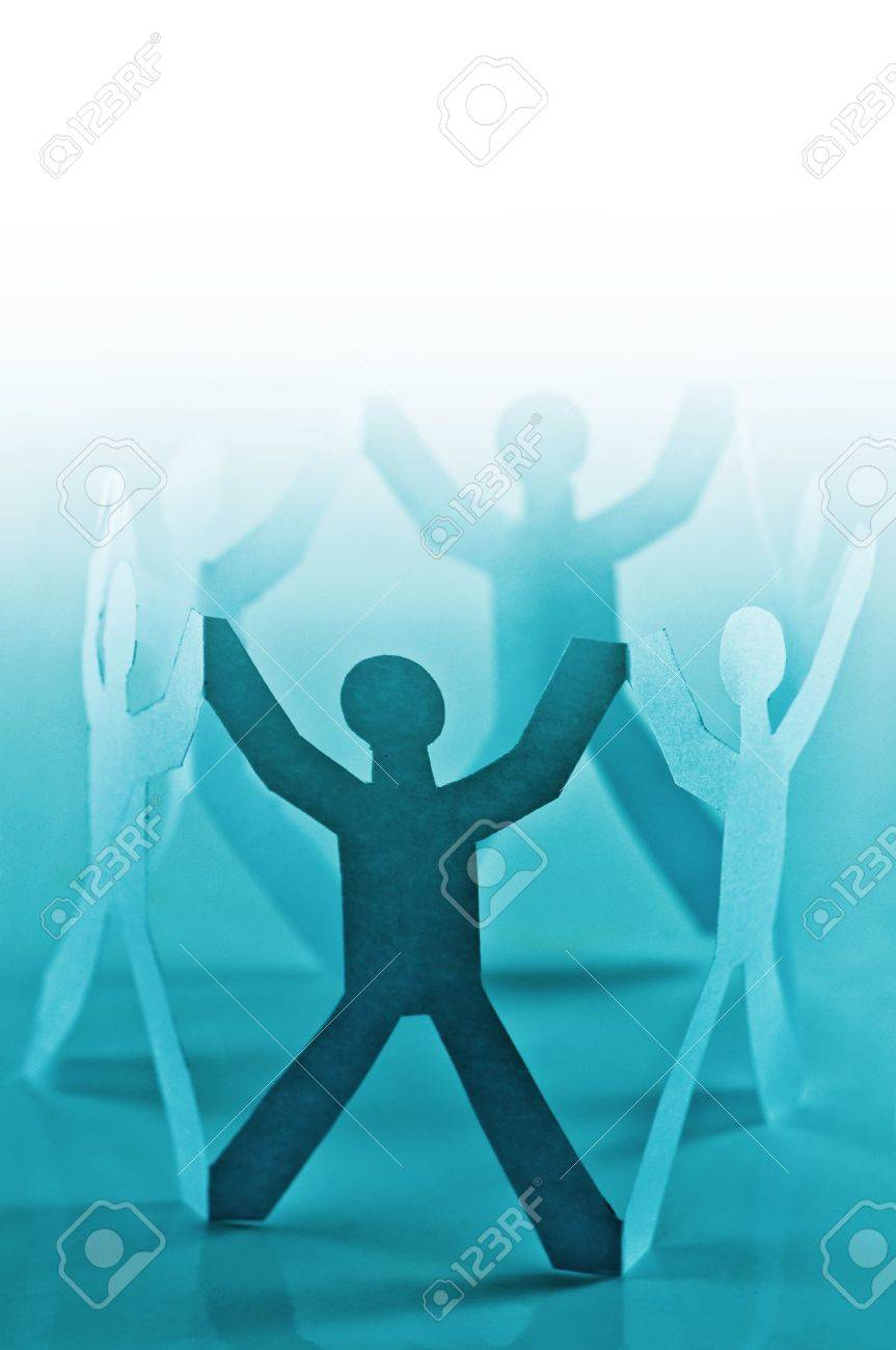 paper people in circle closeup Stock Photo - 6979258