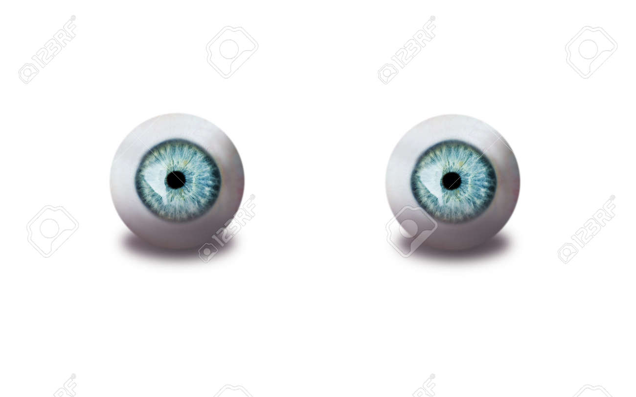 human eyes isolated on white Stock Photo - 8483582
