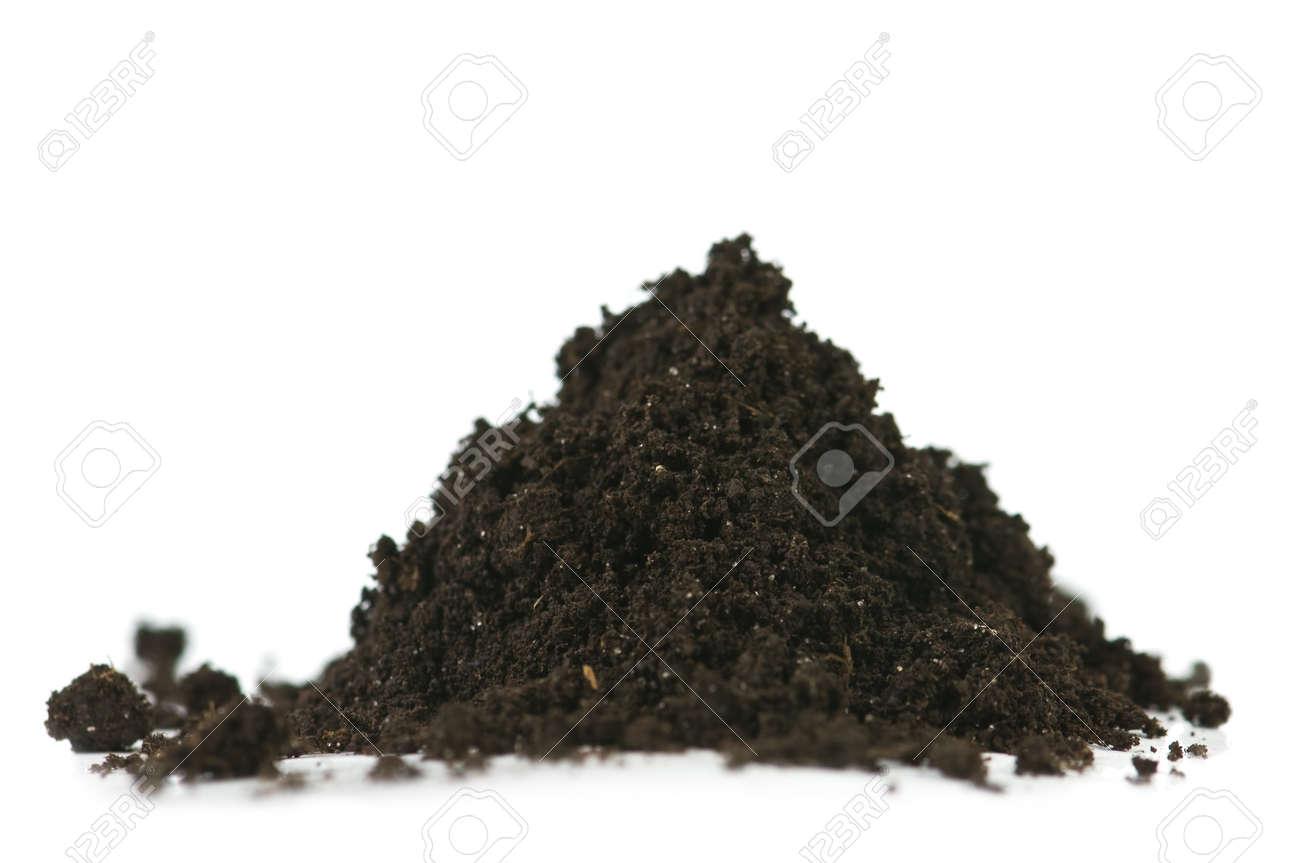 soil heap isolated on white Stock Photo - 17433320