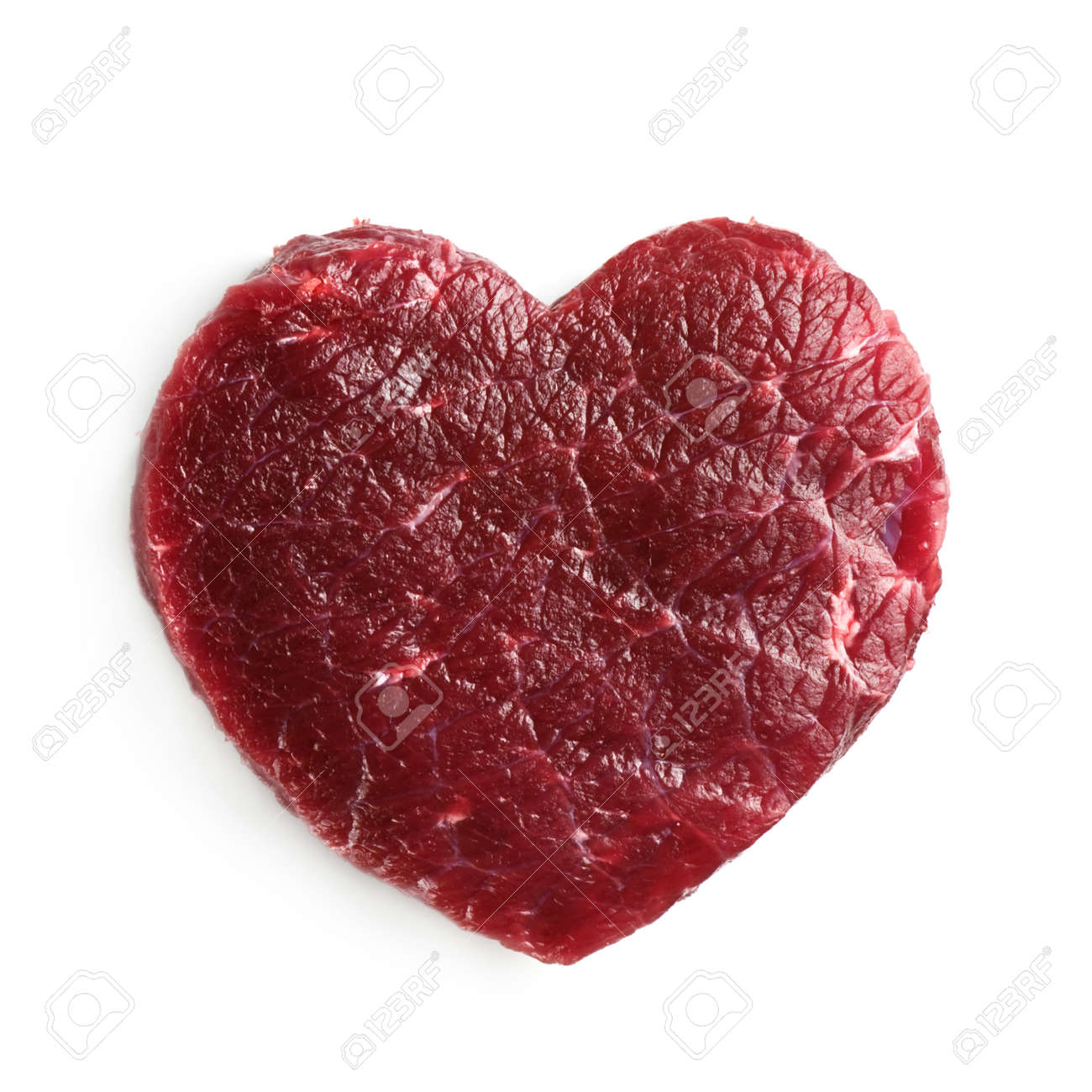 beef heart isolated on white Standard-Bild - 21919429
