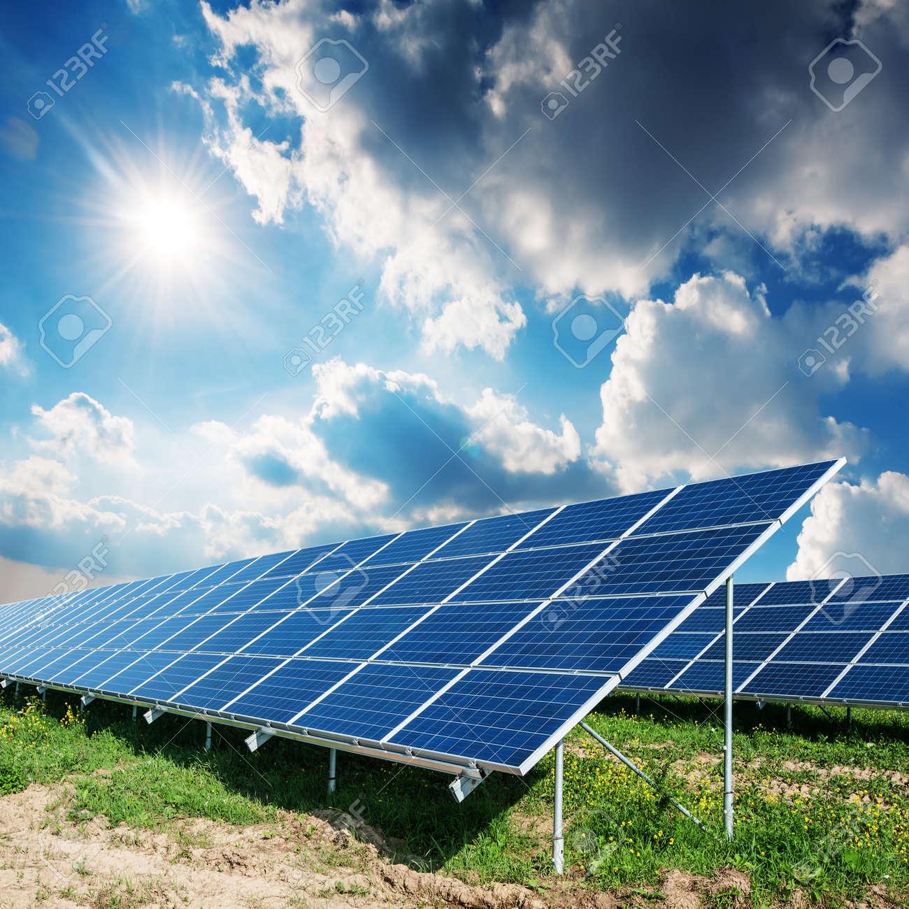 sun panels and blue sky Standard-Bild - 22274907