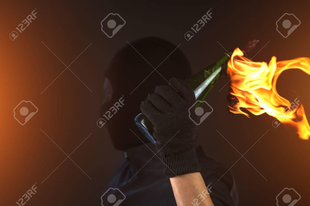 molotov cocktail in activist hand Stock Photo - 26560997