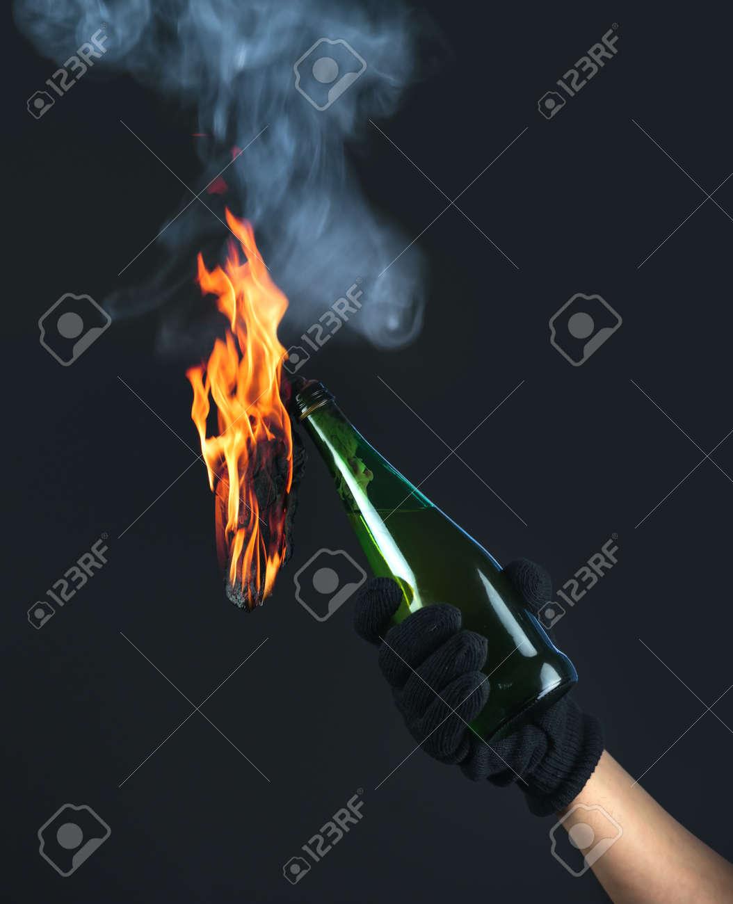 molotov cocktail in activist hand Stock Photo - 26561000