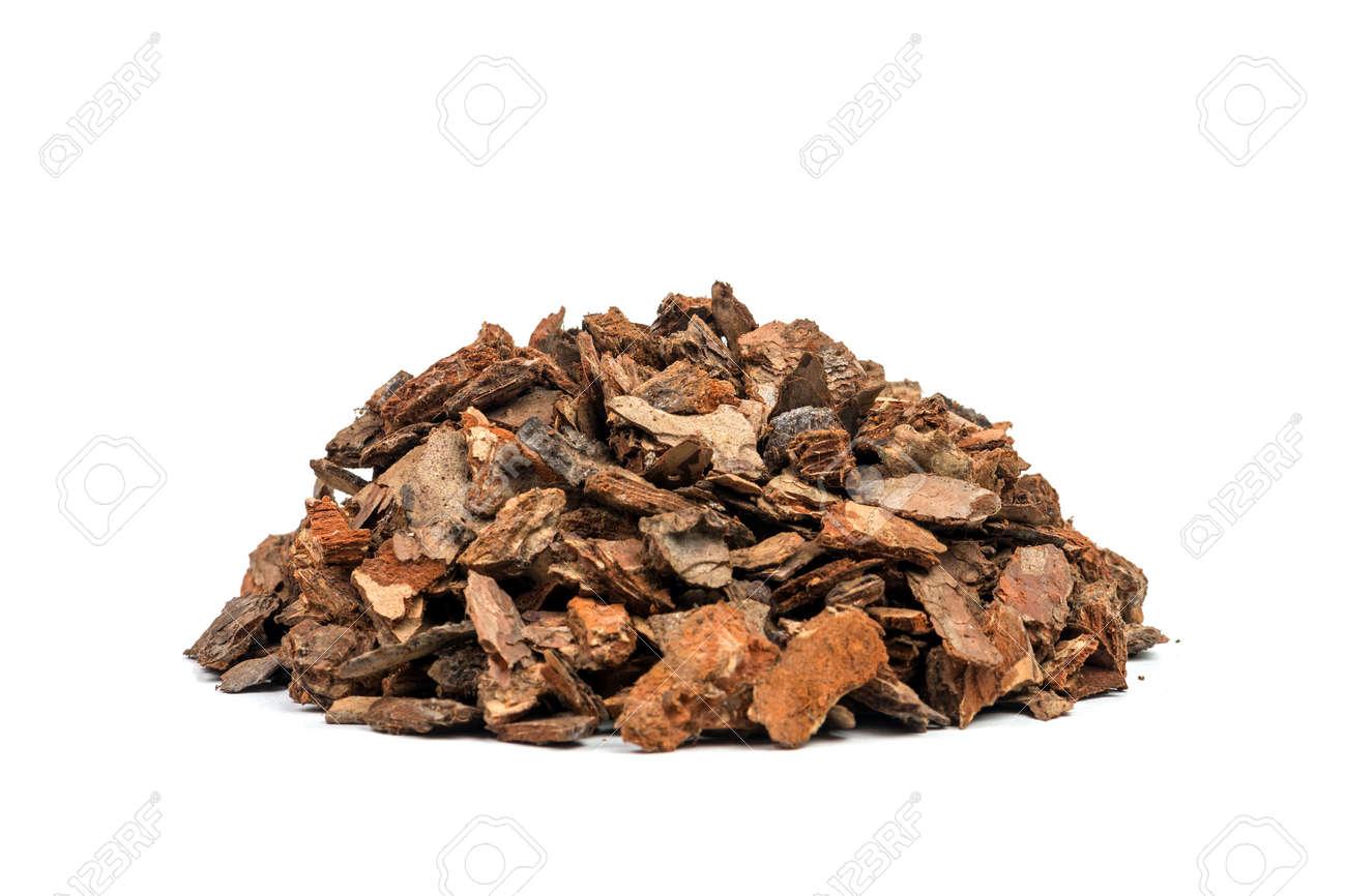 heap of pine bark isolated - 30929723