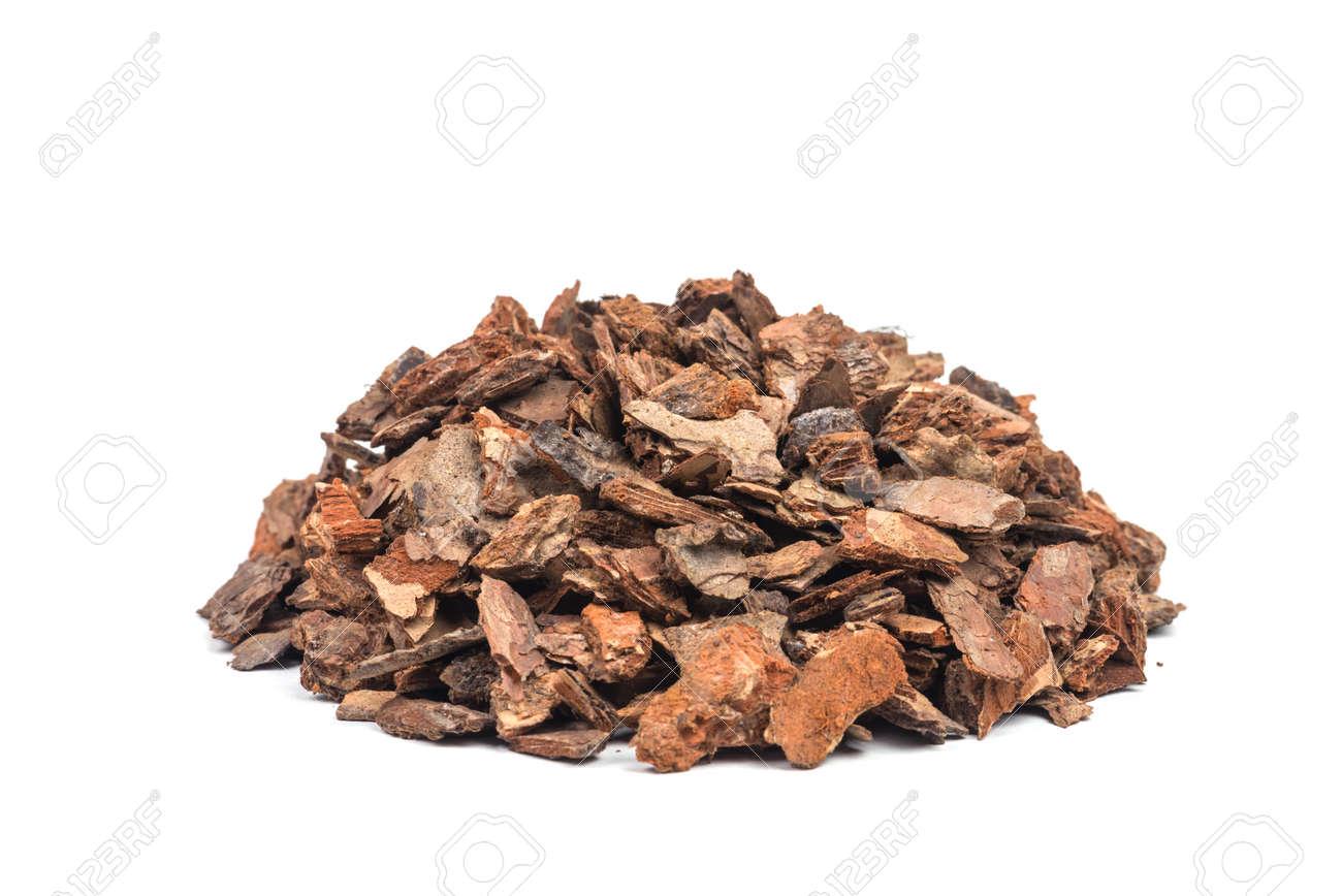 heap of pine bark isolated - 31042010