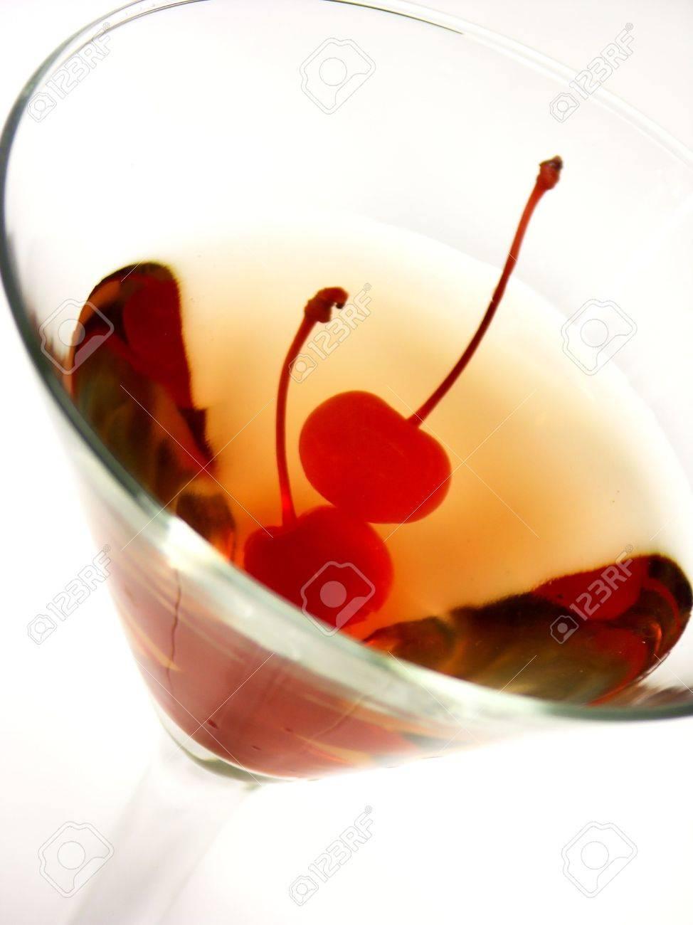 martini with 2 cherries Stock Photo - 241518
